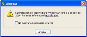 OnSAT - Servicios informáticos - blog - final de windows xp